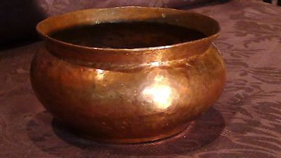 Antique 19C Islamic Copper Hand Hammered Pot