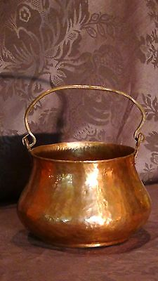 Antique 18C Islamic Arabic Copper Hand Hammered Pot