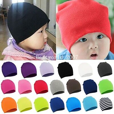 New Boy Girls Newborn Baby Infant Toddler Kids Cotton Cute Hat Beanie Cap