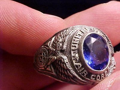 Original Wwii Or Prior Usac Us Air Corps Sterling Ring