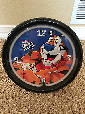Vintage Kellogg Frosted Flakes Tony The Tiger Neon Wall Clock