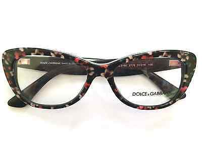 DG3166. RX Eyeglasses. Black/Multi. 51 Eye size. Made in Italy. New