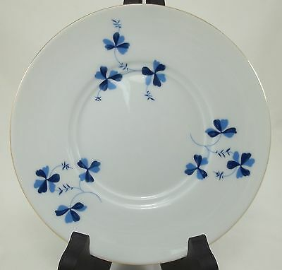 -17- I. Godinger & Co. Blue Bella Pattern Saucer - Blue Floral w/ Gold Trim
