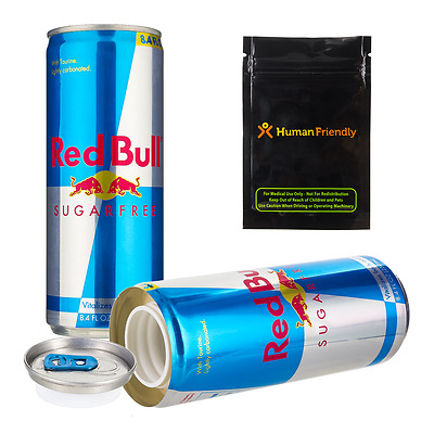Diet Red Bull Diversion Safe Secret Stash Can w FREE Smell Proof Bag + Shipping