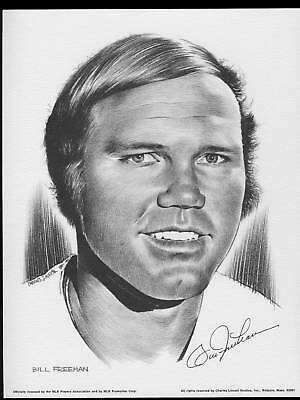 1975 Linnett Portrait Bill Freehan Detroit Tigers