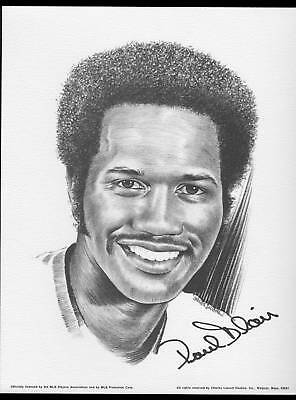 1976 Linnett Portrait Paul Blair Baltimore Orioles