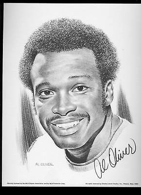 1975 Linnett Portrait Al Oliver Pittsburgh Pirates