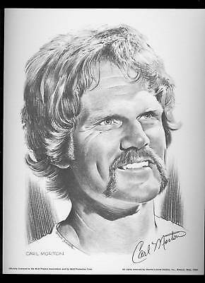 1975 Linnett Portrait Carl Morton Atlanta Braves