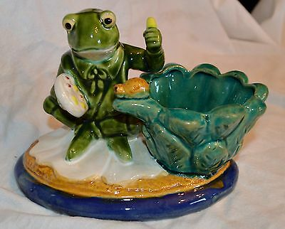 Frog Artist Ceramic Pottery Figurine Large Excellent Condition