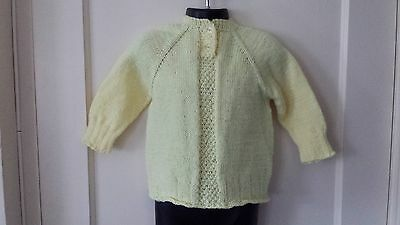 New Toddler Girl Handmade Yellow Warm Sweater. Size 2T 24M. Free Shipping!