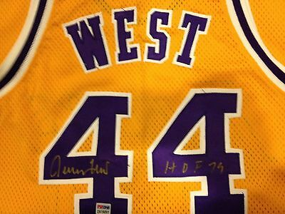 AUTOGRAPHED JERRY WEST Authentic LAKERS Jersey with COA from PSA/DNA