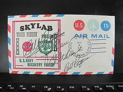 Skylab 4 crew Signed FDC COVER  Jerry Carr Bill Pogue Ed Gibson NASA Astronauts