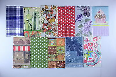 MIX 11 Paper napkins for decoupage & collecting & crafts size 33 x 40cm 3 - ply