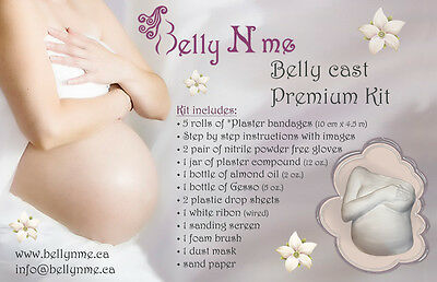 At home pregnancy belly cast premium kit