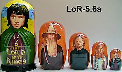 Lord of Rings 6.a * Russian Nesting Doll * 5 pc / 6 in *
