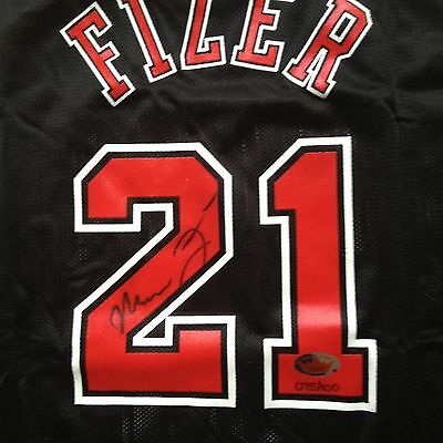 AUTOGRAPHED MARCUS FIZER  FLEER LEGACY REPLICA CHAMPION JERSEY # 075/100