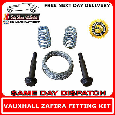 Vauxhall Zafira Mk I and II Fitting Kit for Rear Exhaust Box Includes Gasket