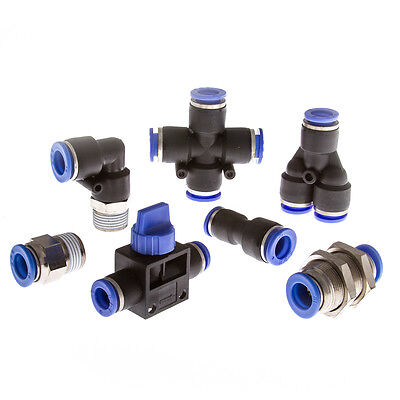 Pneumatic Push-Fit or Push-In Fittings. Immediate Availability From UK Stockist