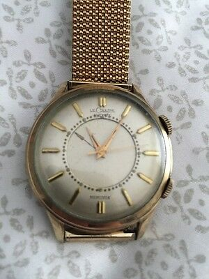Vintage Lecoultre Mens Jumbo Alarm Automatic Watch P815 Rare!