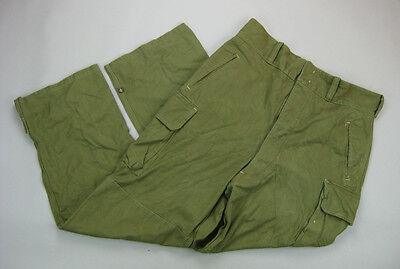 1952 French OD Utility Cargo Trousers Pants French Indochina Lizard Pattern Camo