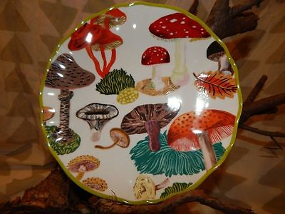 Anthropologie Nathalie Lete Mushroom Toadstool Luncheon Salad Plate