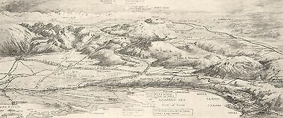 MILITARY MAP/BATTLE PLAN, WW1, ITALY, ITALIAN CAMPAIGN 1915