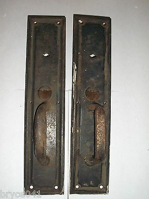 Antique Door Handle Tumb Latch Plates #73