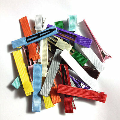 "25 - Solid Lined - LARGE 2.25"" Single Prong - Alligator Clips - No Slip"