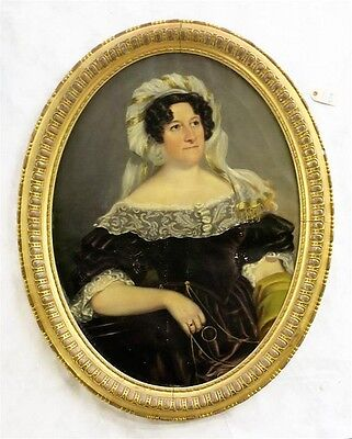 19TH CENTURY OIL ON CANVAS PORTRAIT OF ELIZA STANH Lot 428