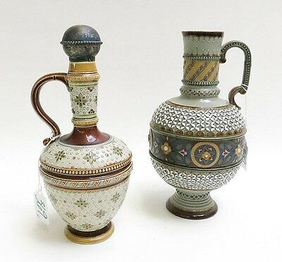 TWO METTLACH POTTERY VESSELS: ewer, # 1772, with m Lot 369