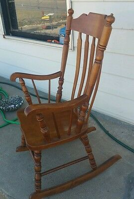 Vintage rocking chair wooden old