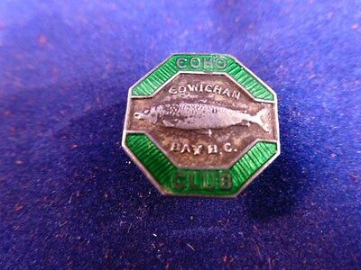 Sterling Silver antique COHO Club Cowichan Bay BC lapel pin