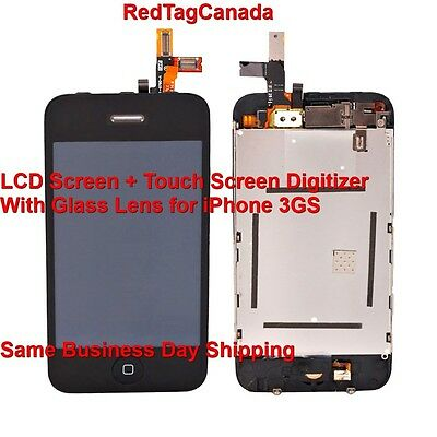 LCD Screen + Touch Screen Digitizer With Glass Lens for iPhone 3GS SKU# MS203