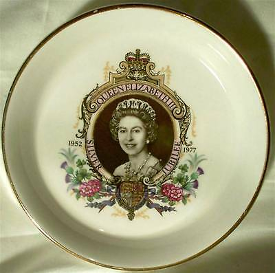 Lord Nelson Pottery Plate China 1977 Silver Jubilee Queen Elizabeth Coaster Dish