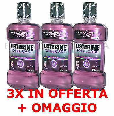 OFFERTA COLLUTORIO - 3X LISTERINE TOTAL CARE da 500 ml + OMAGGIO