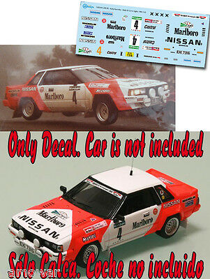 Decal 1:43 Terry Kaby - NISSAN 240 RS - Rally El Corte Ingles 1984