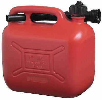 Cosmos RED Plastic 4 Star/leaded CAN - 5 Litre -fuel Petrol Plastic - Travel
