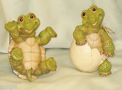 "Hatching Resin Turtle Figurine - NEW - 4"" or 5"" - Pick ONE ONLY"
