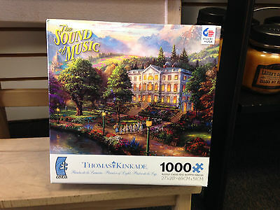 Ceaco SOUND OF MUSIC 1000 pc Puzzle THOMAS KINKADE New in Box BRAND NEW Mint