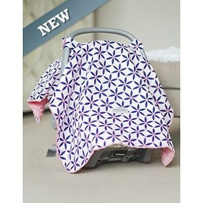 NEW Carseat Canopy Baby Infant Car Seat Cover Kendra  Minky Attachment Straps