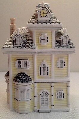 Colonial Or Victorian Style House Porcelain Cookie Jar