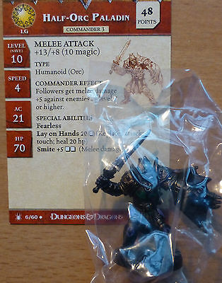 D&D Miniatures Dungeons & Dragons 42 Dragon Underdark Half-Orc Paladin Promo