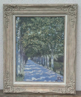 "Beautiful Vintage Original Oil Painting Signed by Silvia Soux, ""A Quiet Street"""