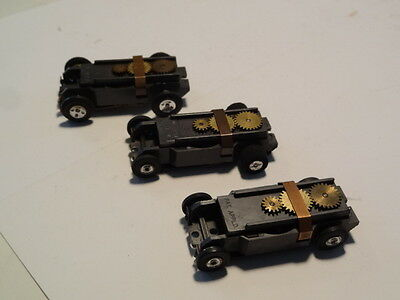 Vintage Aurora T-jet  Chassis lot of three F - ho slot car