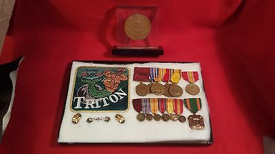 Rare Historic 1960 USS Triton submarine grouping - Medallion, Patch, Medals