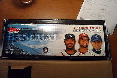 2011 Topps Baseball Complete Factory Set Series 1 & 2 With Babe Ruth Refractor