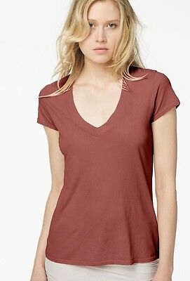 NWT James Perse Relaxed V-Neck T-Shirt 2 Faded Red $50