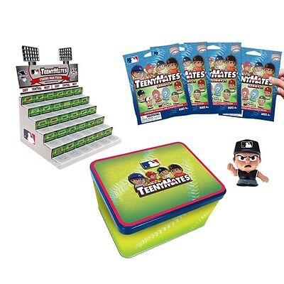 Newest Series 2 MLB Teenymates Stadium Display Collector Tin With 4 packs.