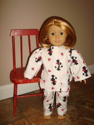 Handmade Doll Clothes fits/for 18 in. American Girl ~ Poodle Dog Print Pajamas