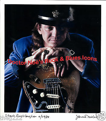 Stevie Ray Vaughan Color-22 x 15.5 inches- BIG!! Print edition on FINE ART PAPER